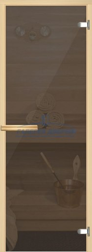 Стеклянная дверь для сауны Аспен серый