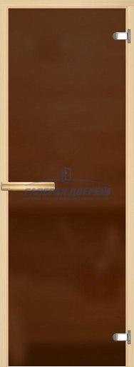 Стеклянная дверь для сауны Аспен бронза