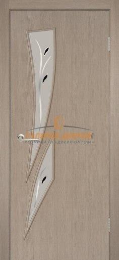 Межкомнатная дверь Стрелиция капучино фьюзинг