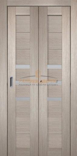 Межкомнатная складная дверь Темпо 15 капучино