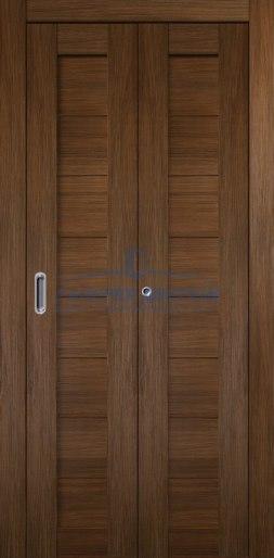 Межкомнатная складная дверь Темпо 10 шоко