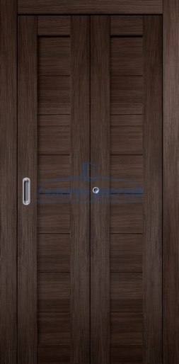 Межкомнатная складная дверь Темпо 10 венге