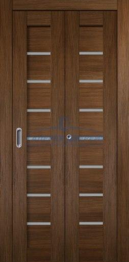 Межкомнатная складная дверь Темпо 11 шоко