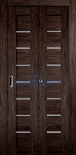 Межкомнатная складная дверь Темпо 11 венге