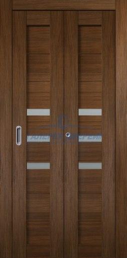 Межкомнатная складная дверь Темпо 15 шоко