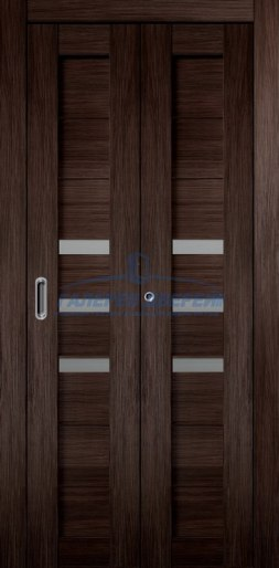 Межкомнатная складная дверь Темпо 15 венге