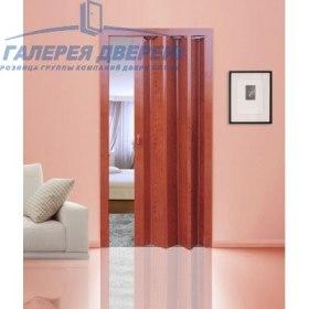 Раздвижная пластиковая дверь (гармошка), ПГ вишня