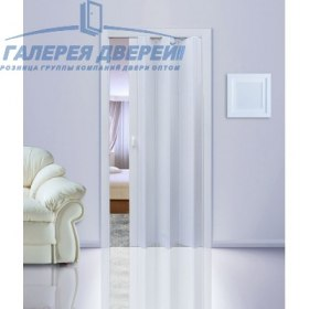 Раздвижная пластиковая дверь (гармошка), ПГ серый ясень