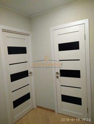 Фото межкомнатных дверей с экошпоном 14
